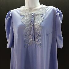 Vintage Valisere Paris Nightgown Made in France Purple Nylon Lace