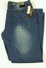 Kaalu Euro Mens Taper Fit 36X32 Denim Blue Jeans MSRP $64