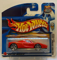 2003 Hotwheels Ferrari Enzo first editions Red European Short Card Release MOC!