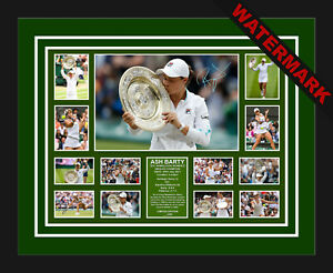 ASH BARTY 2021 WIMBLEDON SINGLES CHAMP LIMITED EDITION SIGNED FRAMED MEMORABILIA