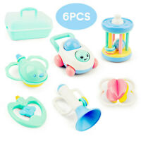 Baby Rattles and Teether Easy Grip Baby Toy Baby Activity Toys Gift Set Horn Car