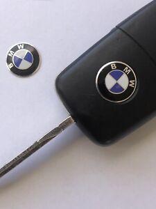 BMW Keyring Sticker x 2 for standard flip key BMW Stickers apx 14mm