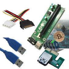 PCI-E riser board for Monero Xmr Dash Litecoin ethereum mining USB 3.0 cable