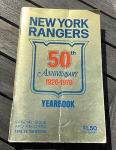 New York Rangers 1976 50th Anniversary Yearbook Hockey Guide Records 1975-76