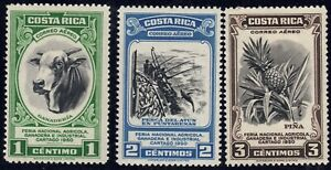 1950 Costa Rica SC# C197-C199 - Bull (Cattle Raising) - 3 Different Stamps-M-H