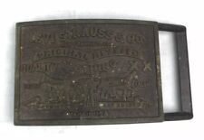 Vtg Levis Belt Buckle Brass Made In USA Original Riveted XX Quality Clothing