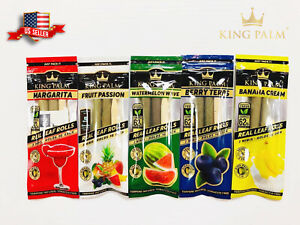 NEW!! 10X KING PALM WRAPS VARIETY PACK REAL LEAF ROLLS MINI SIZE 5 PACKS