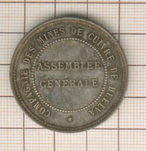 Token Silver Cie Of Mines Of Copper Of Huelva (Spain) Assembly Welsh