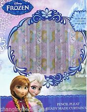 """DISNEY FROZEN CRYSTALS NURSERY READY MADE CURTAINS 66""""x72"""" SOFT TOUCH MICROFIBER"""