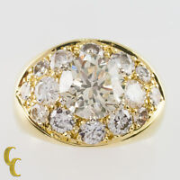 4.82 carat Round Brilliant Diamond 18k Yellow Gold Cocktail Ring Size 5