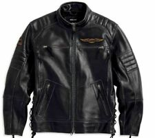 Harley Davidson Men's Kane Vintage Black Leather Jacket 97185-14vm Size 2xl