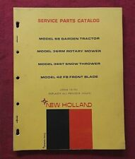 1972 New Holland S8 Lawn Amp Garden Tractor Parts Catalog Manual Mower Deck Blade