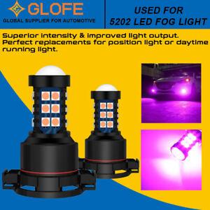 For CHEVY SILVERADO 1500 2500 HD 08-15 5202 5201 LED Fog Driving Light Pink Bulb
