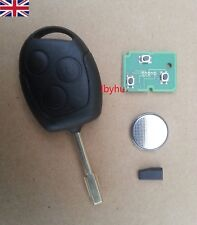 Ford Mondeo Focus Transit Connect 3 Button 433Mhz 4d60 Chip Key Fob Case + Blade