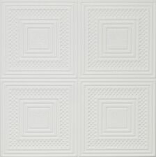 Decorative Ceiling Tiles Styrofoam 20x20 R11 Ultra Pure White Painted satin