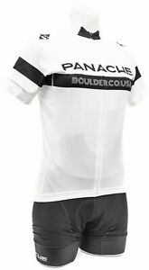 Panache Women Short Slv Cycling Kit SMALL Black White Road Bike Gravel Race MTB