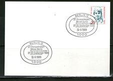 Briefmarken aus Berlin (1980-1990) mit Bedarfsbrief