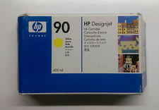 HP Original 90 Yellow C5065A Designjet 4000 4500 Series Boxed 06/2015