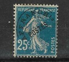 TF 35 - préoblitéré 56a * semeuse 25c bleu  surcharge fine - regommé?-