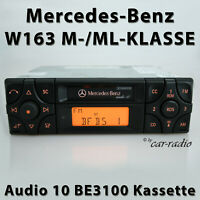 Original Mercedes Audio 10 BE3100 Kassette W163 Radio Autoradio ML-Klasse Becker
