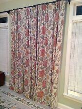 Pottery barn Cynthia Palampore 50x108 ivory pole pocket drapes 2-panels