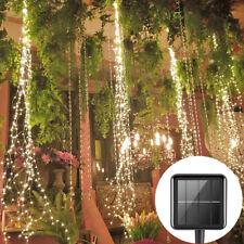 200LED Solar Lichterkette Wasserfall Baum String Lichter Außen Garten Party Deko