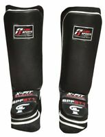 Shin Pads Instep MMA Muay Thai Kick boxing leather leg Guards boxing protectors