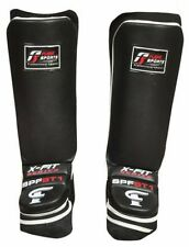 Shin Pads Instep MMA Muay Thai Kick boxing leather leg Guards boxing protectors