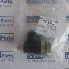 FESTO 162969 ONE-WAY FLOW CONTROL VALVE GRLA-3/8-QS-6-RS-B  G3/8 PUSH-IN 6MM
