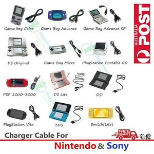 Charger Charging Date Cable For Nintendo & Sony Console 3DS Switch PSP PSV GBASP