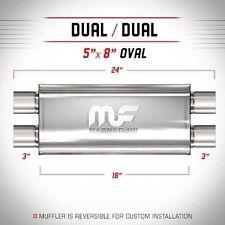 "Magnaflow 12469 High-Flow Performance Muffler 5x8x18 Oval 3"" Dual/Dual"