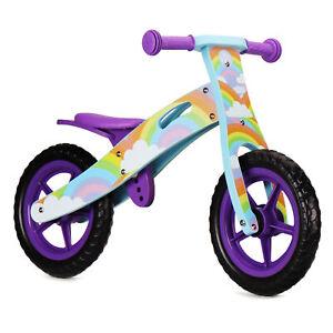Nicko NIC878 Rainbow Children's Kids Girls Purple Wooden Balance Bike 2-5 Years