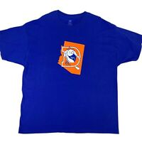 Denver Broncos Shirt Men's Size 2XL Blue Short Sleeve Old Logo NFL Football Tee