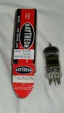 1 NOS Raytheon Black Plate Square Getter 12AU7A Tube