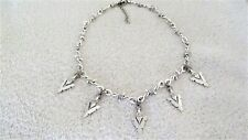 Arrowhead Charm Choker Necklace Jewelry Barb Barbed Wire Chain Goth Punk Hunter