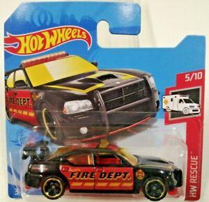 2021 Hot wheels L Case #216 Dodge Charger Drift Fire Dept- Damaged blister