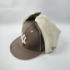 NEW ERA 59FIFTY DOG EAR NEW YORK YANKEES Brown Fitted 7 7/8 Hat Cap Fur Sherpa