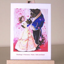 Belle rose petals Beauty and the Beast WDCC drawing ACEO art card