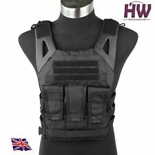 AIRSOFT NJPC JUMPABLE PLATE CARRIER WITH DUMMY SAPI PLATES BLACK SWAT LBT VEST