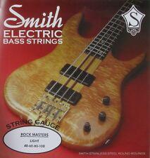 KEN SMITH RM-L ROCK MASTER STAINLESS STEEL BASS STRINGS, LIGHT GAUGE 4's, 40-100