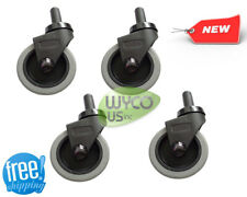 """Qty 4, Swivel Casters For Yellow Rubbermaid Mop Bucket, 3"""""""