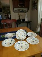 """Vintage Sear's Country French Ironstone 4453 Japan 6.5""""×1.5"""" Soup/Cereal Bowl"""