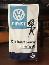 Classic Volkswagen VW Banner Flag Vintage Service Sign Collectible Classic Parts