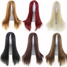 pelucas cosplay fantasia rubias Silk largo long Sintético derecho wig black