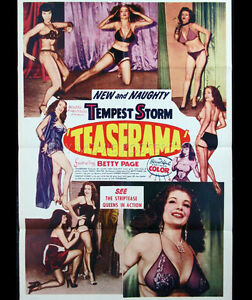 Teaserama movie film DVD transfer Bettie Page Tempest Storm burlesque pinup