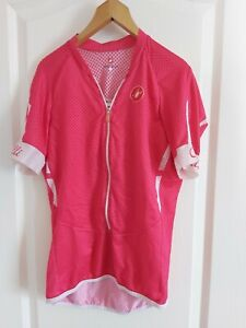 Womens Castelli cycling top - size L Shocking Pink