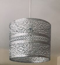 *NEW* Silver Coloured Metal Pendant Light Lamp Ceiling Shade Cut Out Moroccan