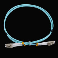 1M LC-LC Duplex 10 Gigabit 50/125 Multimode Fiber Optic Cable Om3 Aqua 10GB HL