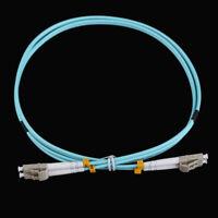 1M LC-LC Duplex 10 Gigabit 50/125 Multimode Fiber Optic Cable Om3 Aqua 10GB HL