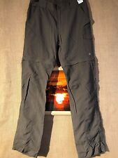 Columbia brown cargo combo pant & short women's Omni-Shade sun protection Packab
